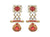 Asmitta Jewellery Red Zinc Dangle Earring - ED892