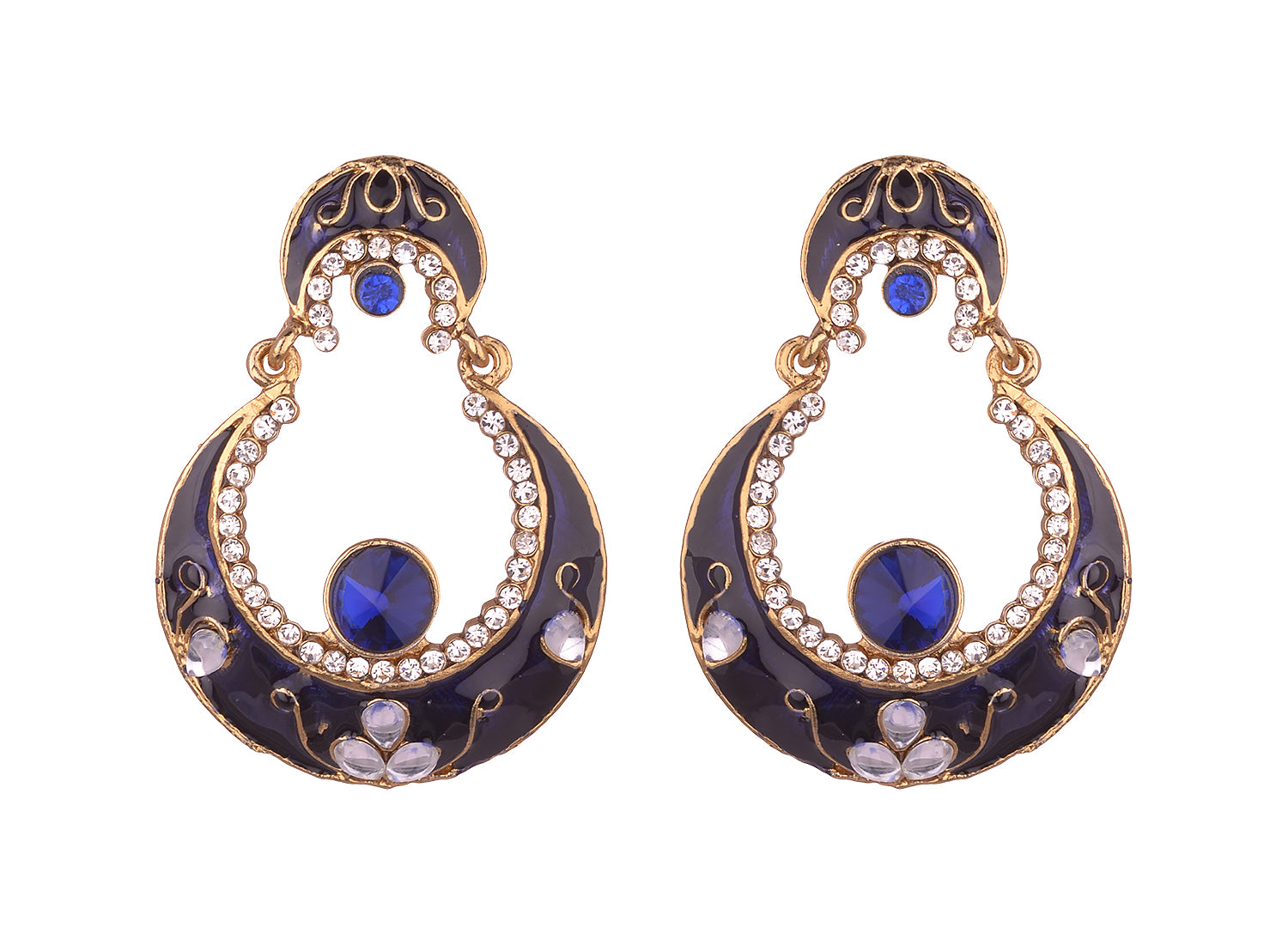 Asmitta Jewellery Blue Zinc Dangle Earring - ED939