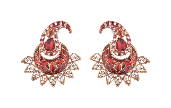 Asmitta Jewellery Red Zinc Dangle Earring - ED942