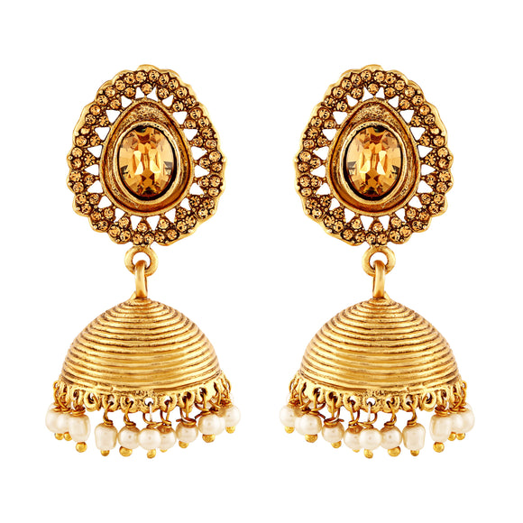 Asmitta Jewellery Gold Zinc Jhumki Earring - EJ132