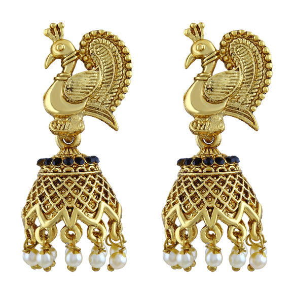 Asmitta Jewellery Gold Zinc Jhumki Earring - EJ331