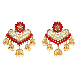 Asmitta Jewellery Gold Zinc Jhumki Earring  -EJ375