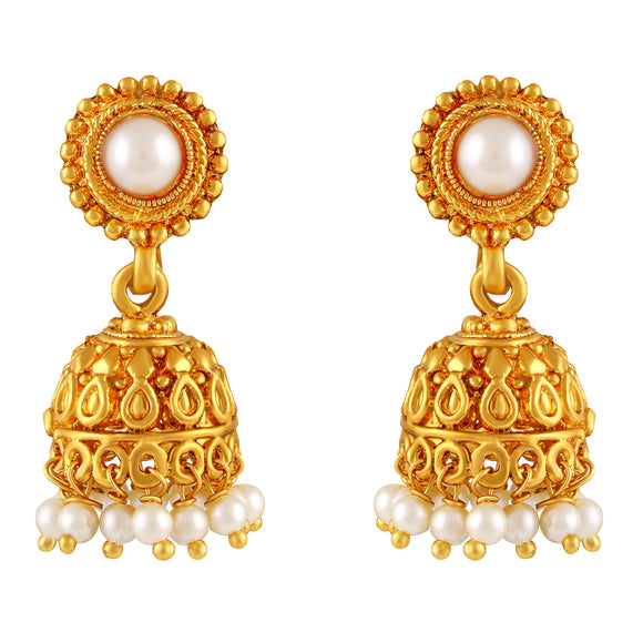 Asmitta Jewellery Gold  Zinc Jhumki Earring  -EJ468