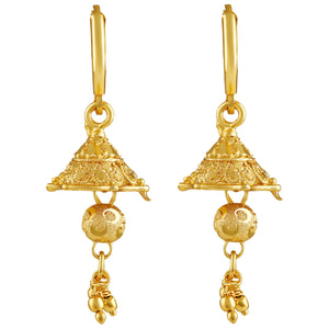 Asmitta Ethnic gold beads Gold Plated Jhumki Earring For Women