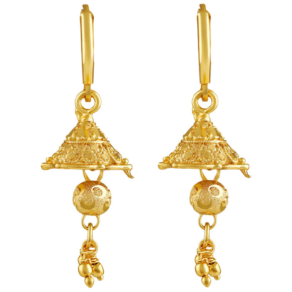 Asmitta Jewellery Gold Earring Zinc Drops Danglers  -EJ603