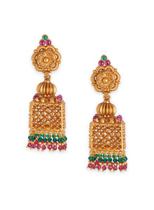 Asmitta Jewellery Gold Alloy Jhumki Earring - EJ670