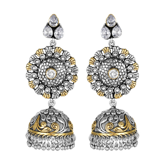 Asmitta Jewellery Silver Brass Jhumki Earring - EJ704