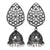 Asmitta Jewellery Silver Brass Jhumki Earring - EJ706