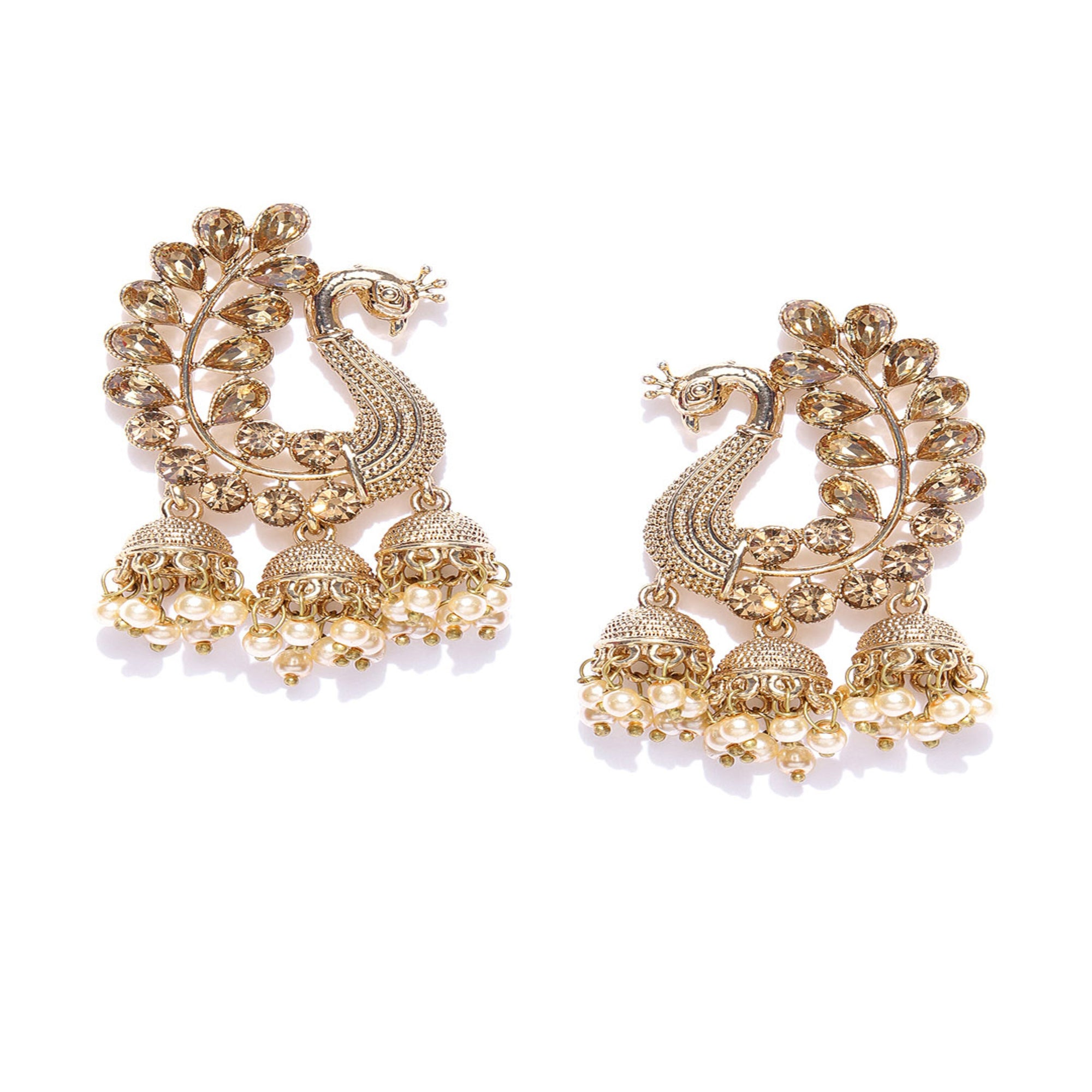 Asmitta Jewellery Gold Zinc Jhumki Earring - EJ735