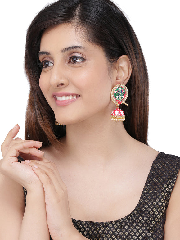 ASMITTA JEWELLERY MULTICOLOUR ZINC JHUMKI EARRINGS -EJ751