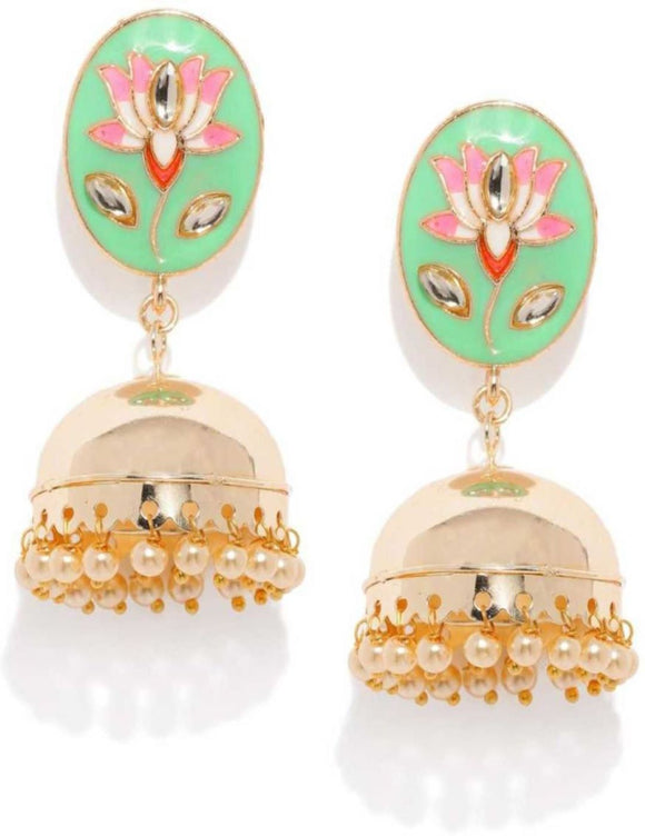 Asmitta Jewellery Gold Zinc Jhumki Earring - EJ754