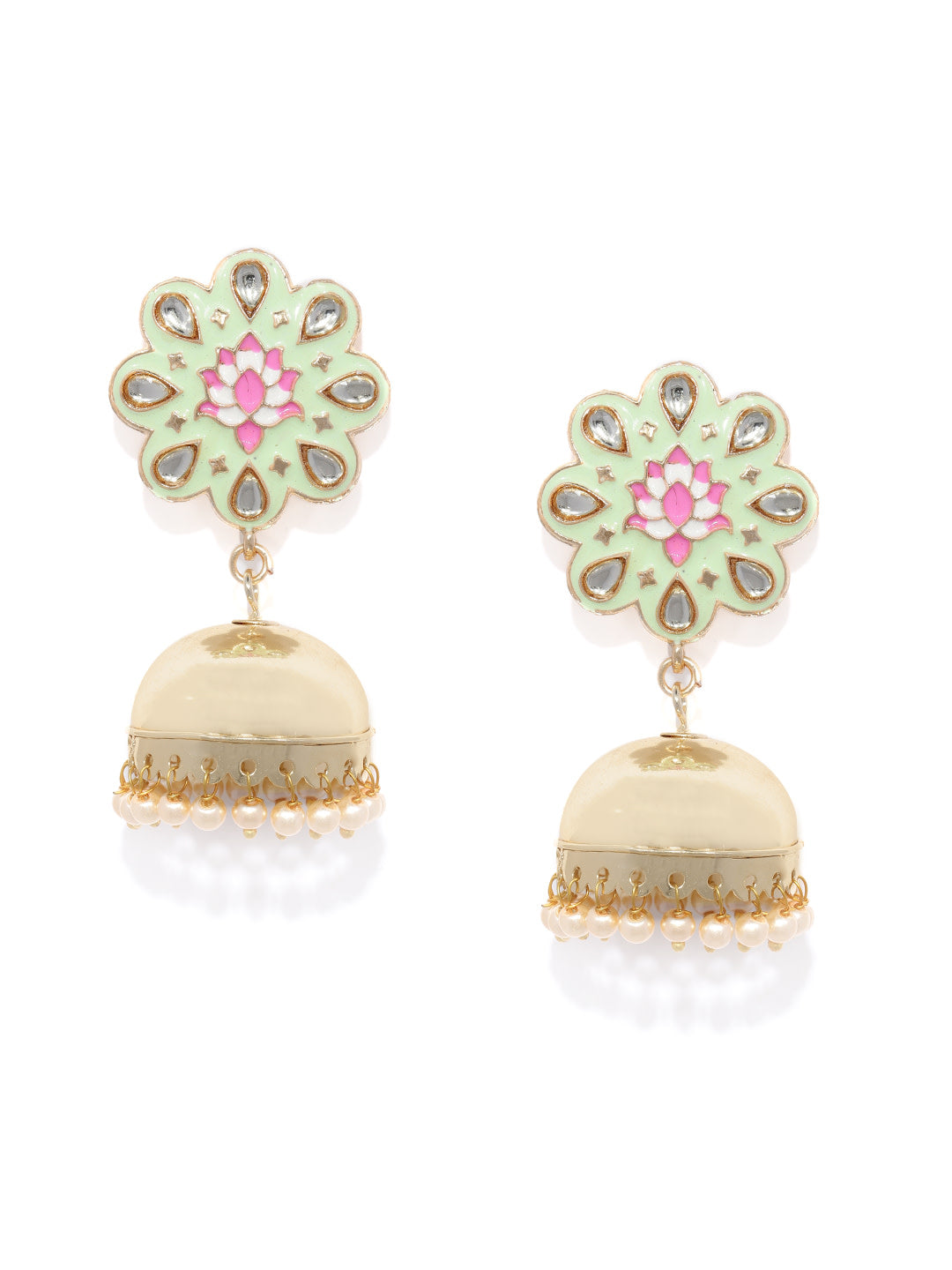 Asmitta Jewellery Gold Zinc Jhumki Earring - EJ756