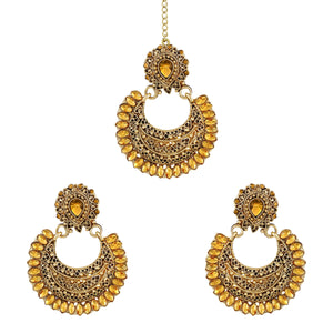Asmitta Jewellery Zinc Jewel Set (Gold, Yellow) -EMD531