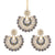 Asmitta Jewellery Grey Zinc Earring Maangtikka Set - EMD70