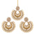Asmitta Jewellery Gold Zinc Earring Maangtikka Set - EMD70