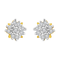 Asmitta Exotic Flower Shape American Diamond Gold Plated Stud Earring For Women