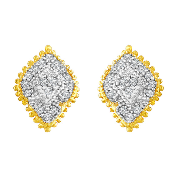 Asmitta Jewellery Gold Brass Stud Earring  -ES296