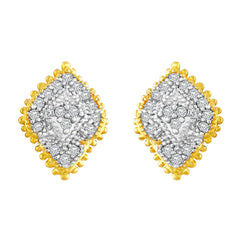 Asmitta Glamorous American Diamond Gold Plated Stud Earring For Women