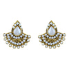Asmitta Jewellery Gold Zinc Stud Earring - ES333