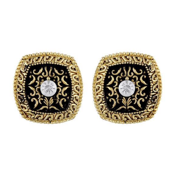 Asmitta Jewellery Gold Zinc Stud Earring - ES557