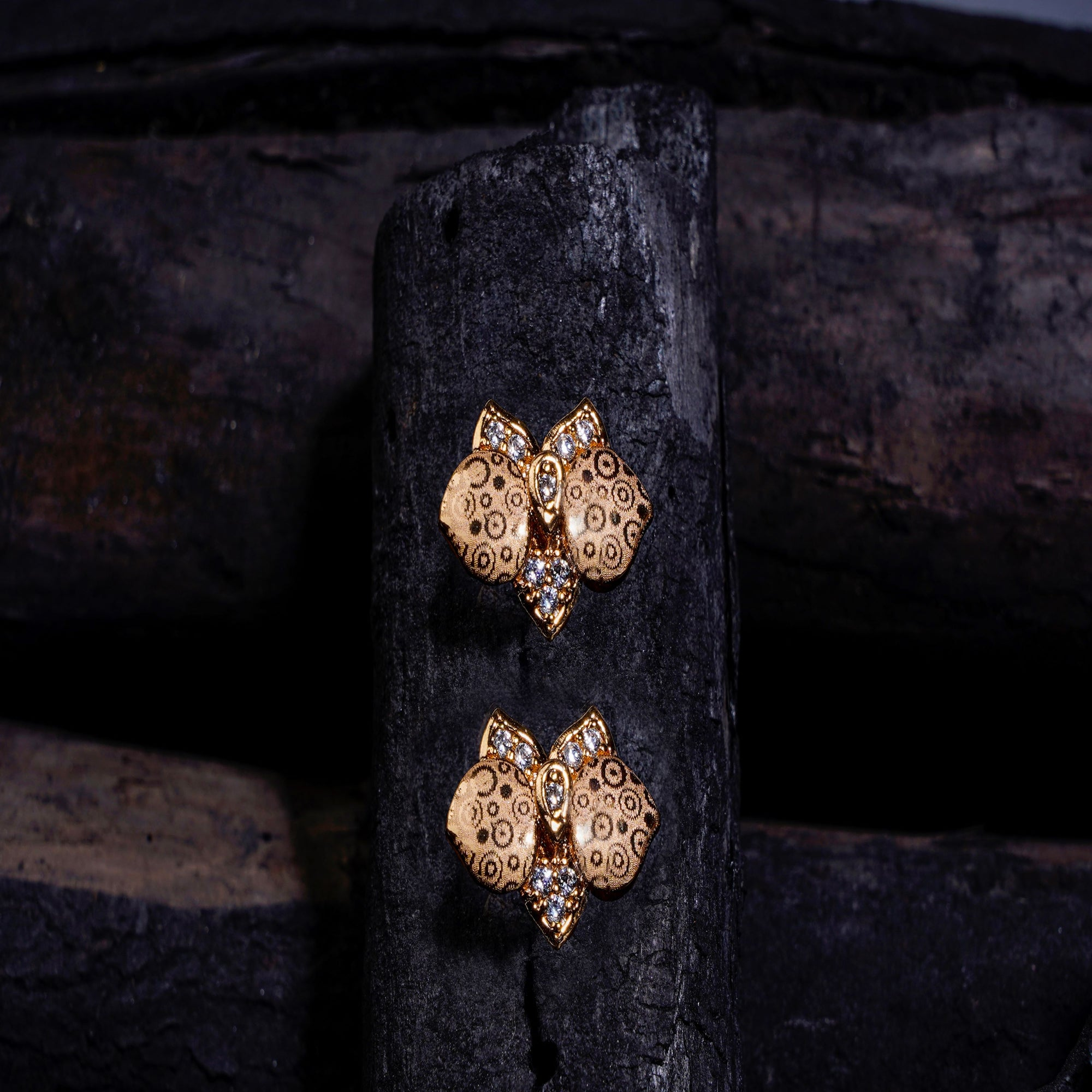 Asmitta Jewellery Gold Brass Stud Earring - ES708