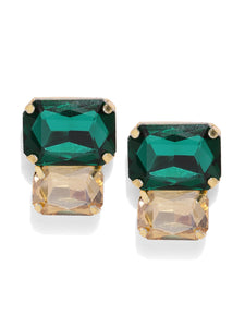 Asmitta Jewellery Green Zinc Stud Earring - ES753