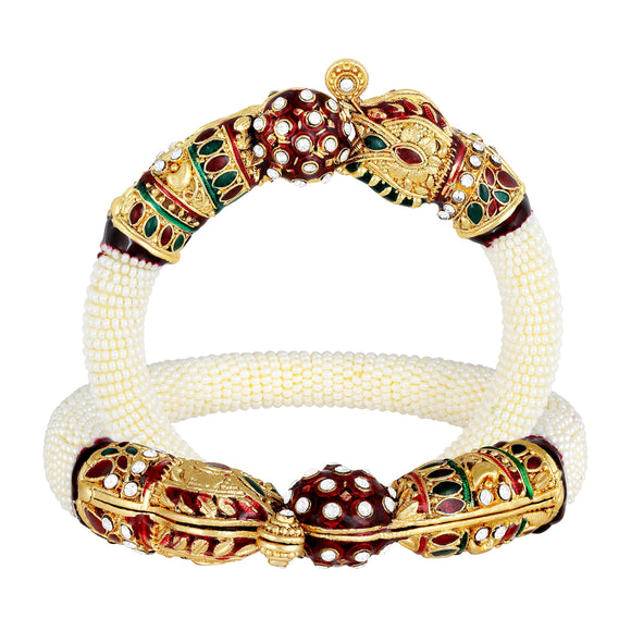 Asmitta Jewellery Alloy Gold- Bangle Set (Pack of 2) -K339