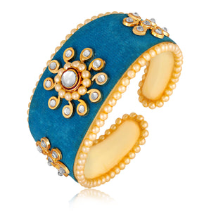 Asmitta Jewellery Alloy Gold- Cuff  -K341