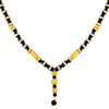 Asmitta Lavish Designer Gold Plated Princess Style White Stone Mangalsutra For Women