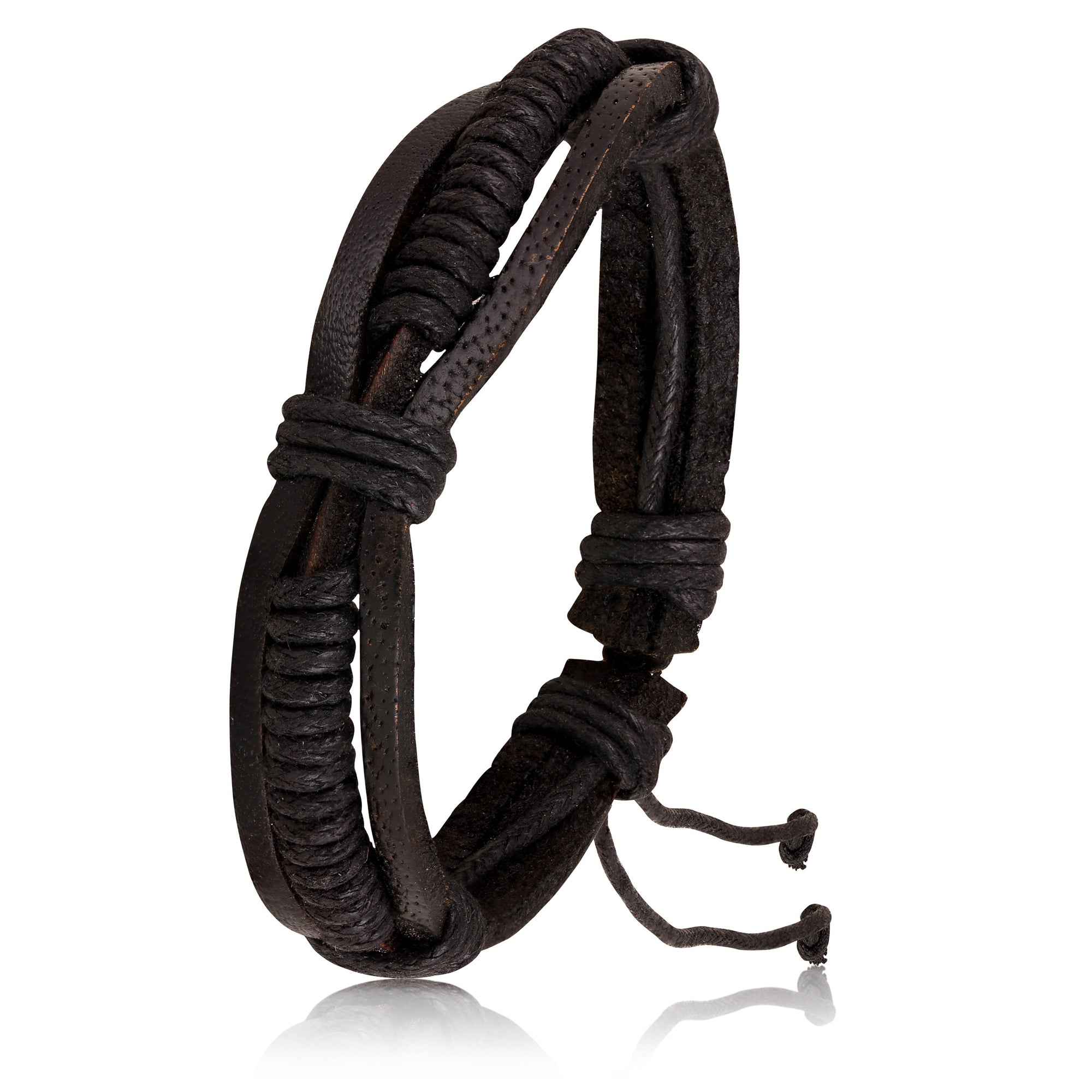 Asmitta Jewellery Leather Bracelet  -MBR292