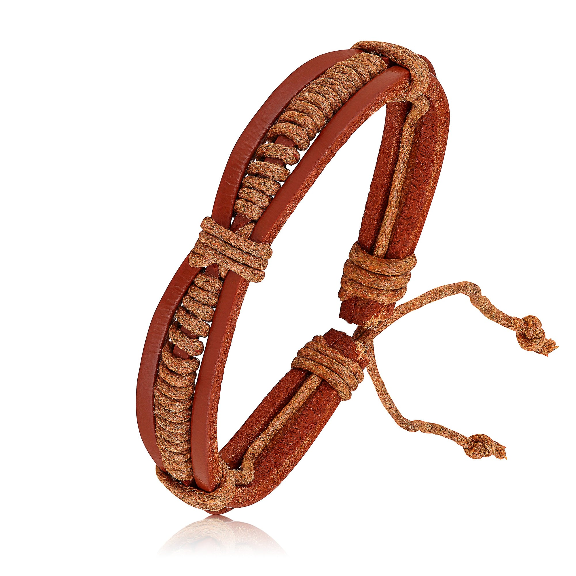 Asmitta Jewellery Leather Cuff  -MBR293