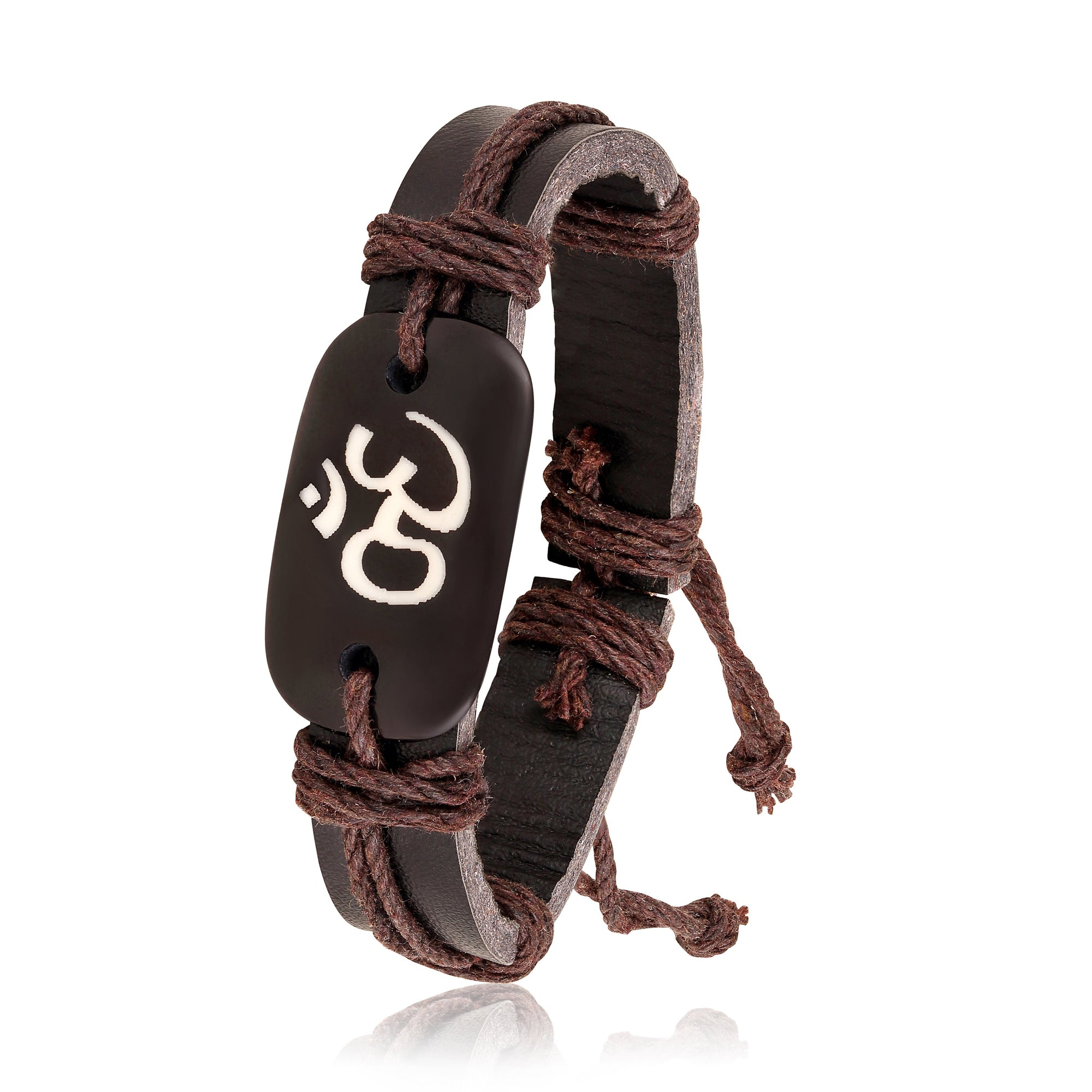 Asmitta Jewellery Leather Cuff  -MBR296