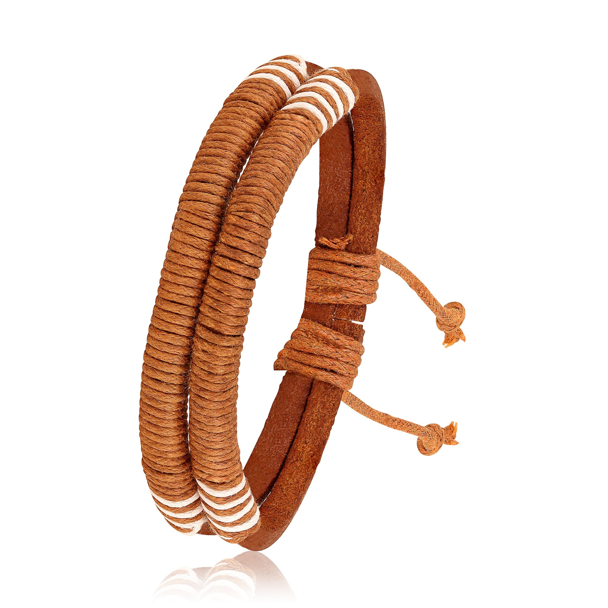 Asmitta Jewellery Leather Bracelet  -MBR298