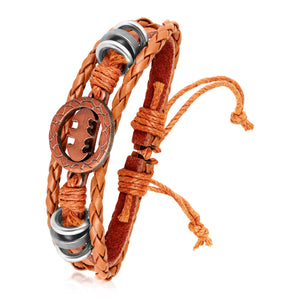Asmitta Jewellery Leather Bracelet  -MBR327