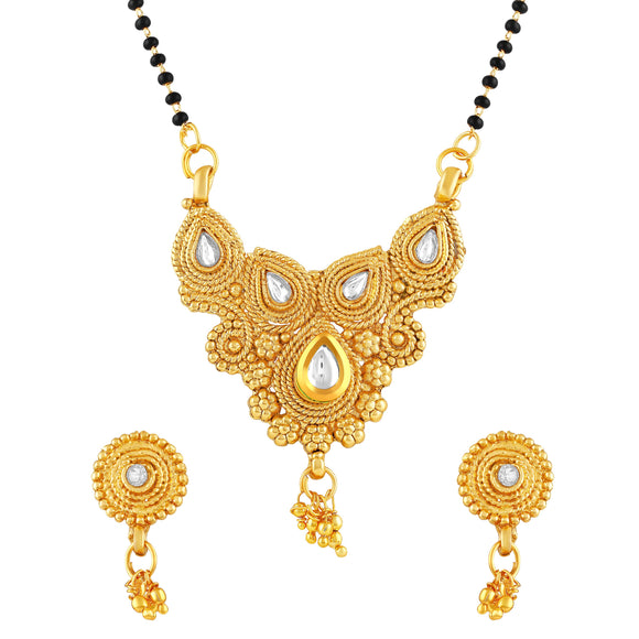 Asmitta Jewellery Gold Zinc Mangalsutra Set - MS137