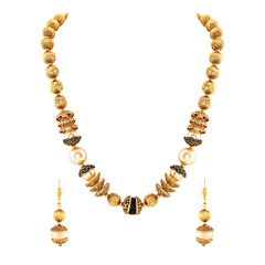 Asmitta Classy Hand Made Gold Plated Necklace Mala Set For Women