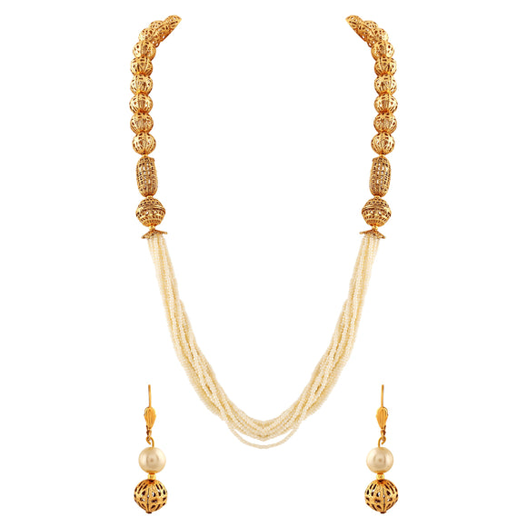 Asmitta Jewellery Zinc Jewel Set (Gold) -NM132