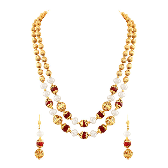 Asmitta Jewellery Zinc Jewel Set (Gold) -NM134