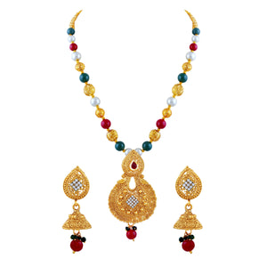 Asmitta Jewellery Gold Zinc Necklace Mala - NM221
