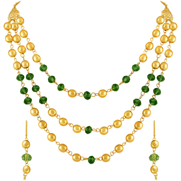 Asmitta Jewellery Gold Zinc Necklace Mala Set - NM432