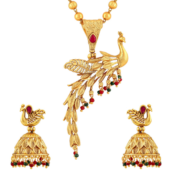 Asmitta Jewellery Brass Jewel Set (Gold) -NM445