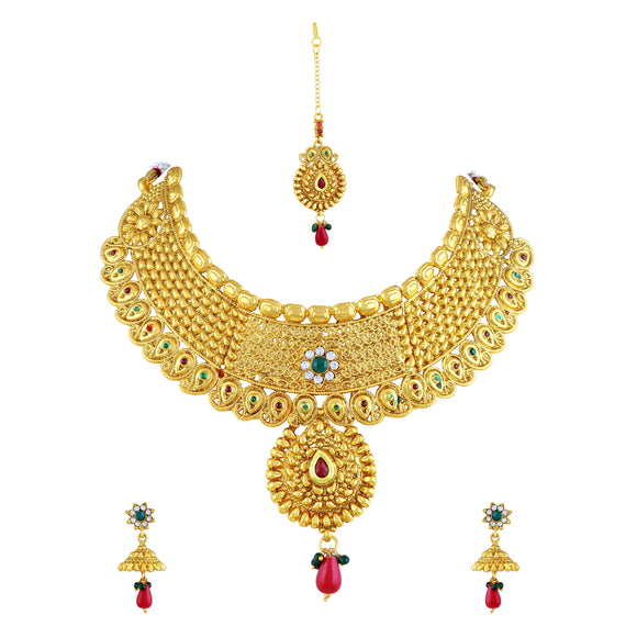 Asmitta Jewellery Jewel Set (Gold) -NS161