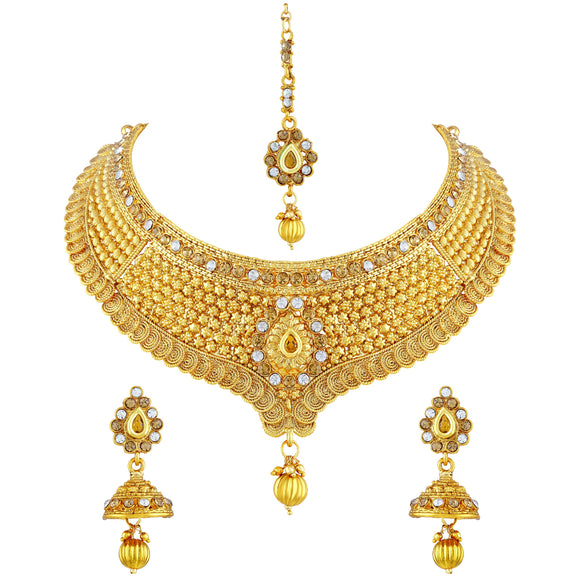 Asmitta Jewellery Jewel Set (Gold) -NS165