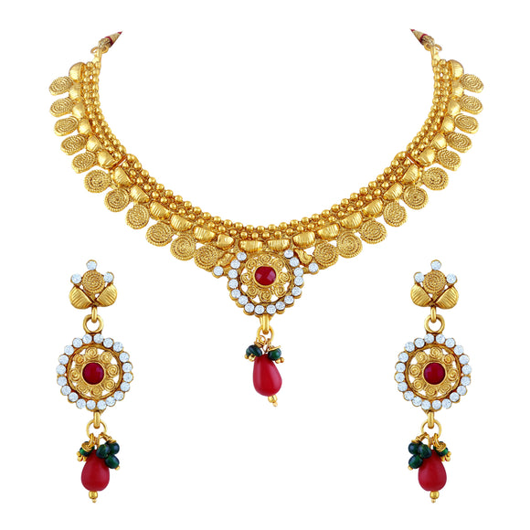 Asmitta Jewellery Jewel Set (Gold) -NS170