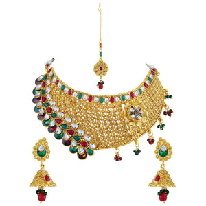 Asmitta Jewellery Jewel Set (Gold) -NS171