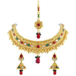 Asmitta Jewellery Zinc Jewel Set (Gold) -NS173