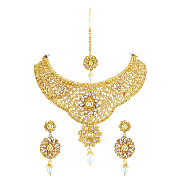 Asmitta Jewellery Jewel Set (Gold) -NS177