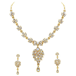 Asmitta Jewellery Zinc Jewel Set (Gold) -NS187