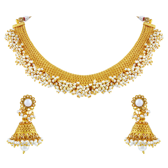 Asmitta Jewellery Zinc Jewel Set (Gold) -NS190
