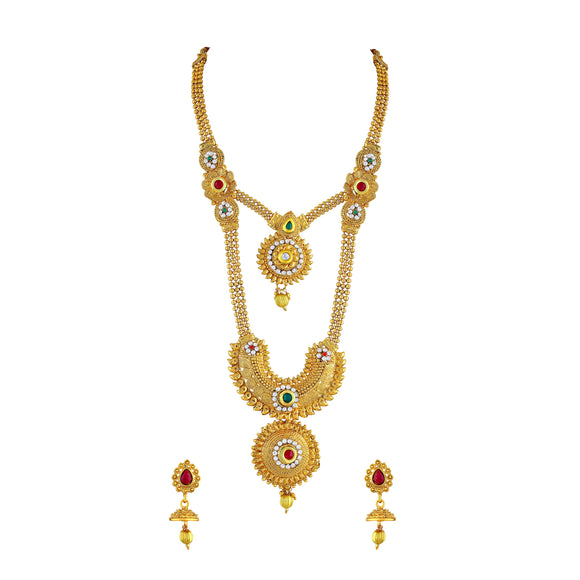 Asmitta Jewellery Zinc Jewel Set (Gold) -NS212